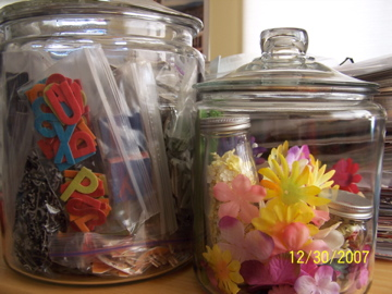 cb & flower jars